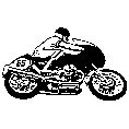 Motor Cycle Racer Rubber Stamp (Available in 3 sizes)