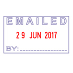 S-410 Self-inking EMAILED Date Stamp