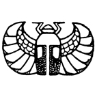 Scarab Beetle Rubber Stamp