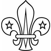 Scout Fleur de Lis Rubber Stamp