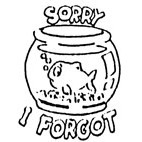 'Sorry I Forgot' Goldfish Stamp  (Available in 3 sizes) from £6.89