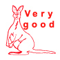 Very Good Kangaroo Motivational Stamp - HS012