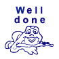 Well Done Frog Motivational Stamp - HS011