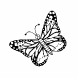 Loyalty Card Self-Inking Stamp Butterfly