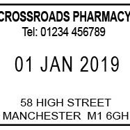 Prescription Date Stamp