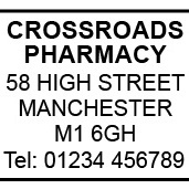 Pharmacy Address Stamp (Self-Inking - Heavy Duty)