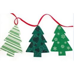 Christmas Tree Shaped Bunting 3m