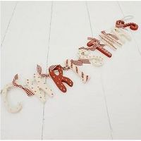 Wooden vintage style Christmas garland