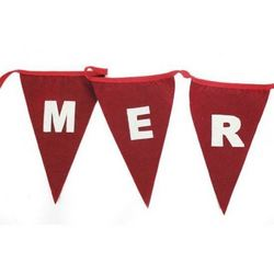 Merry Christmas Flag Bunting 3m