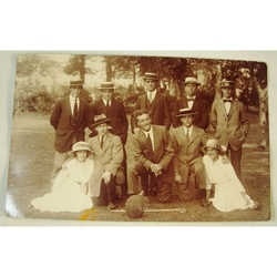 Penarth Swimming Club & Party 1914 Bideford Real Photo Postcard