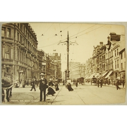 Early 1900s St Mary Street Cardiff Tuck's Town & City Series Postcard 2