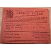 1913 National Health Insurance Medical Ticket