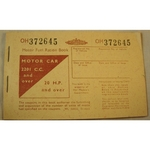 Motor Fuel Ration Book