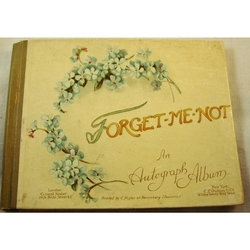 Forget- Me-Not Autograph Album By Ernest Nister (1920s?)