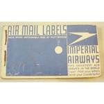 Air Mail Label Stubs Advertising Imperial Airways 1924-1939