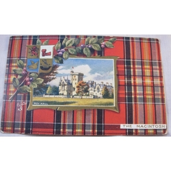 Tuck's Oilette Postcard, Moy Hall, The Mackintosh Tartan, c1910