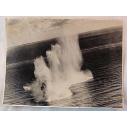 RAF 201 Group Official WWII Photo Depth Charge Attack 8 inches x 6 inches