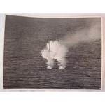 RAF 201 Group Official WWII Photo Attack on Coastal Ship 8 inches x 6 inches