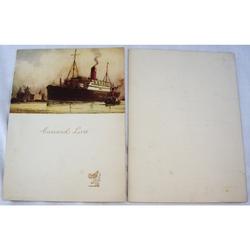 Cunard RMS Franconia Dinner Menu 9th June 1933