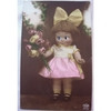 1920s Glass Eyed Real Photo Postcard: Kewpie Doll