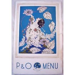 P & O Strathmore Dinner Menu 17th August 1936