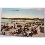 Barry Island, Beach & Boats, Vintage Postcard