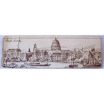 Antique Paper Bookmark, Thames Panorama, Northern Assurance 1908/9?