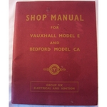 Shop Manual Vauxhall Model E & Bedford Model CA