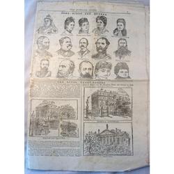 1887 Jubilee Guide (uncut part newspaper)