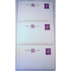 3 x 3d Letter Cards