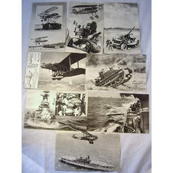 Vintage 1930s Military Fact Cards
