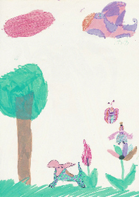 Drawing by Abi Collins age 6