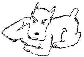 thurber drawing of a dog
