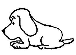 Drawing of a dog - Thurber