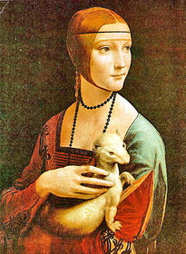 Painting of a girl by Leonardo
