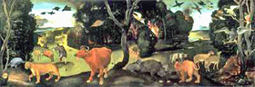 A Forest Fire by Piero di Cosimo