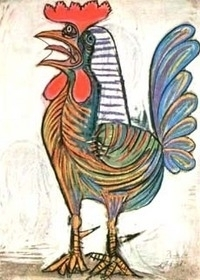 Painting of a cockerar by Picasso