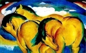 Painting of horses by Marc