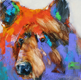 Painting of a bear