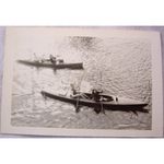 RAF Gatow Berlin Airlift 1948-49 Real Photo: canoeists near Frey Bridge