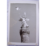 RAF Gatow Berlin Airlift 1948-49 Real Photo: Franco-Prussian Monument 1870 war