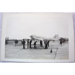 RAF Gatow Berlin Airlift 1948-49 Real Photo: Runway Repairs Whilst A/C Land