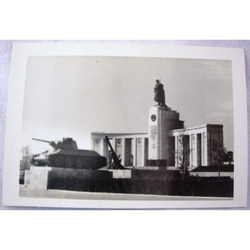 RAF Gatow Berlin Airlift 1948-49 Real Photo: Russian War Memorial + Tank