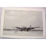 RAF Gatow Berlin Airlift 1948-49 Real Photo: Skymaster taking off for Celle