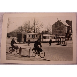 RAF Gatow Berlin Airlift 1948-49 Real Photo: Trams and Cyclists