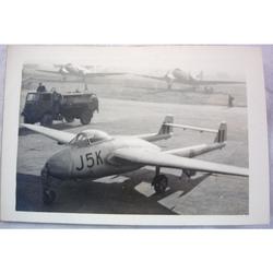 RAF Gatow Berlin Airlift 1948-49 Real Photo: Vampire J5K at Wunsdorf (1)