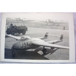RAF Gatow Berlin Airlift 1948-49 Real Photo: Vampire J5K at Wunsdorf (1)