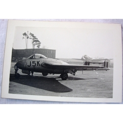 RAF Gatow Berlin Airlift 1948-49 Real Photo: Vampire J5K at Wunsdorf- (2)