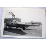 RAF Gatow Berlin Airlift 1948-49 Real Photo: Vampire J5K at Wunsdorf- (2)