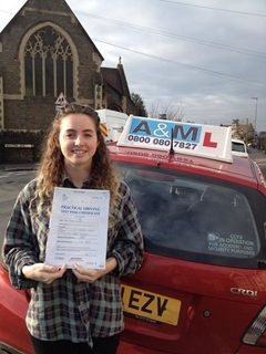 Paige Hatcher From St Annes Bristol Passes Her Driving Test.